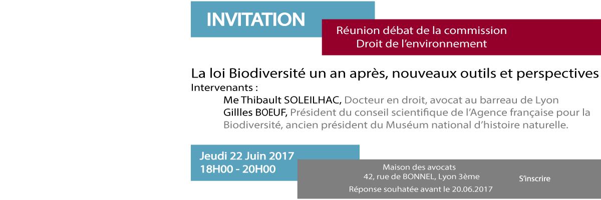 Actualités Colloque Biodiversité 22 Juin 2017